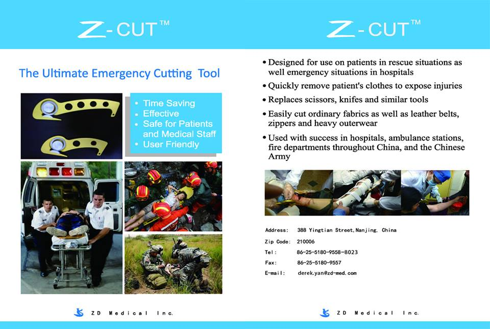 z-cut cutter for emergency cases, dfad